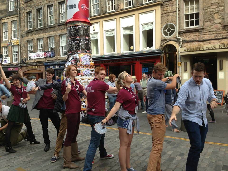 Flyering on the Royal Mile